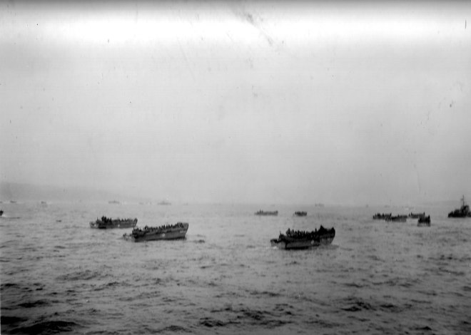 Like the recent Korean fake photos - but actually a real massed amphibious landing force.